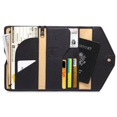 Zoppen Mulit Purpose Rfid Blocking Travel Passport Wallet Ver 4 Tri Fold Document Organizer Holder Black Intl ใหม่ล่าสุด