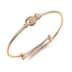 ราคา Zuncle Korean Diamond 18K Gold Bracelets Anklets Child Golden ใหม่