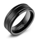 ส่วนลด Zuncle เธอะลอร์ดออฟเธอะริงส์ของพวกพั้งค์ร็อคเรโทรแหวนทังสเตนเหล็ก สีดำ ไซส์ยูเอส Zuncle ใน จีน