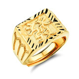 ซื้อ Zuncle Men 18K Gold Plated Chinese Character Rings Golden Zuncle ออนไลน์