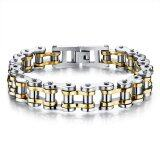 ขาย Zuncle Men Titanium Steel Individuality Motorcycle Chain Bracelet Gold ถูก ใน จีน