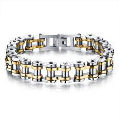 ซื้อ Zuncle Men Titanium Steel Individuality Motorcycle Chain Bracelet Gold ใน จีน
