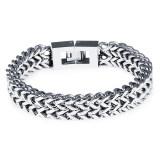 ขาย Zuncle Men S Personalized Square Scales Titanium Steel Bracelet Silver