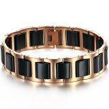 ราคา Zuncle Simple Stylish Men Titanium Steel Ceramic Bracelet Black ถูก