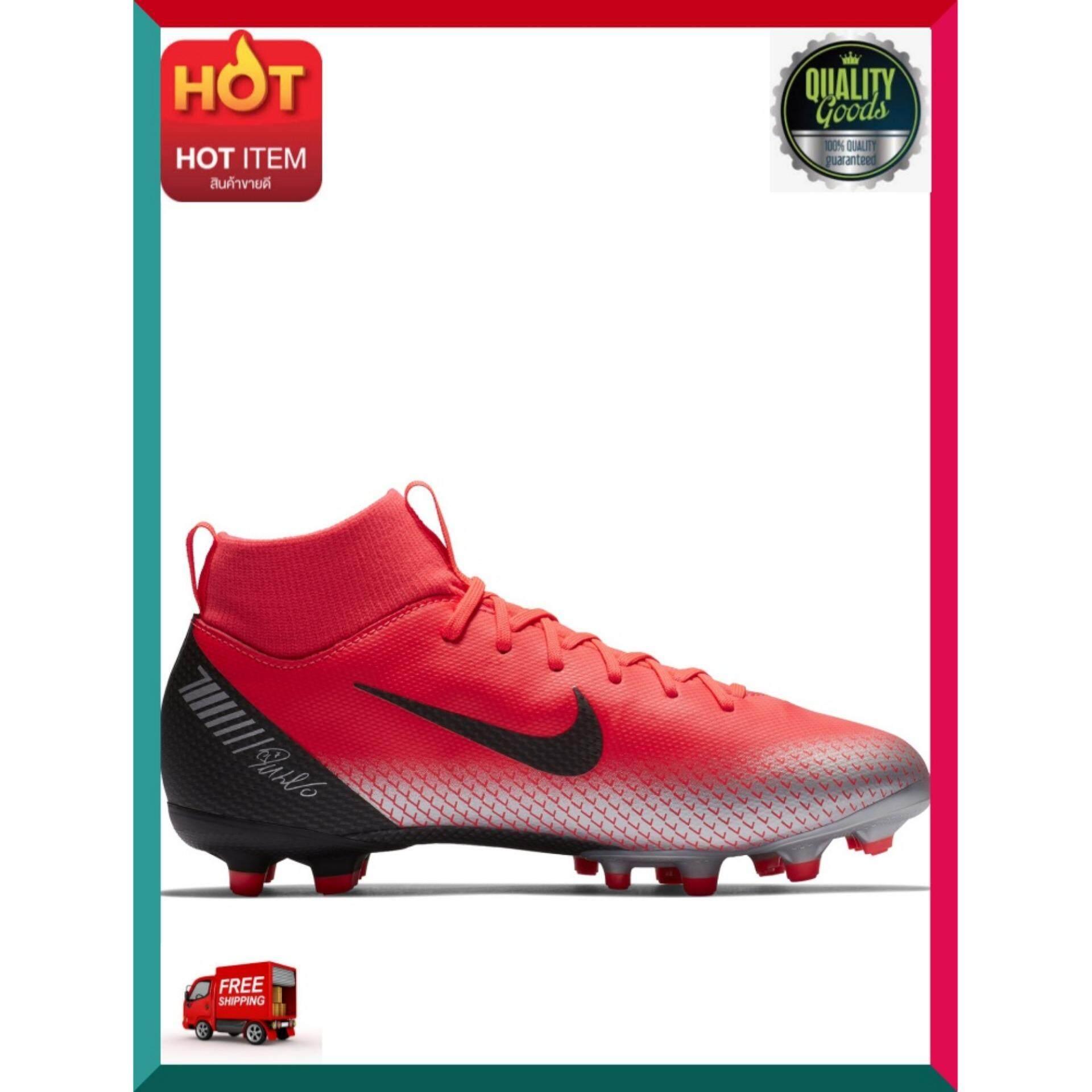 ด่วน! ของมีจำนวนจำกัด Nike รองเท้าฟุตบอลเด็กผู้ชาย Cr7 Jr. Superfly 6 Academy (mg) Aj3111-600 ไซส์ 5y สีbright Crimson-Black-Chrome-Dark Greyของมี สินค้าคุณภาพ By Happy Mindset.