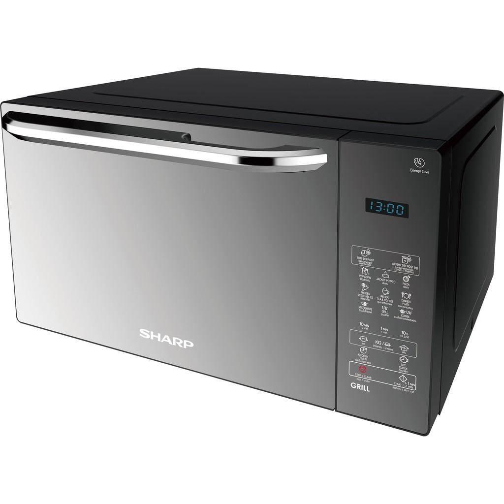 ส่งฟรีSHARP เตาอบไมโครเวฟ  2 ระบบ ย่าง กับ เวฟ 2 Plus 1 MAGIC GRILL Platinum Series ขนาด 25 ลิตร รุ่น R-752PMR