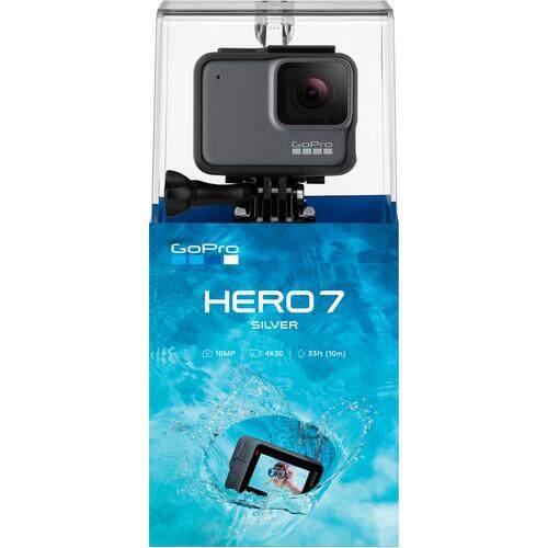Gopro Hero 7 Silver 10mp 4k 30fps พร้อมกันสั่นวีดีโอ ประกันศูนย์.