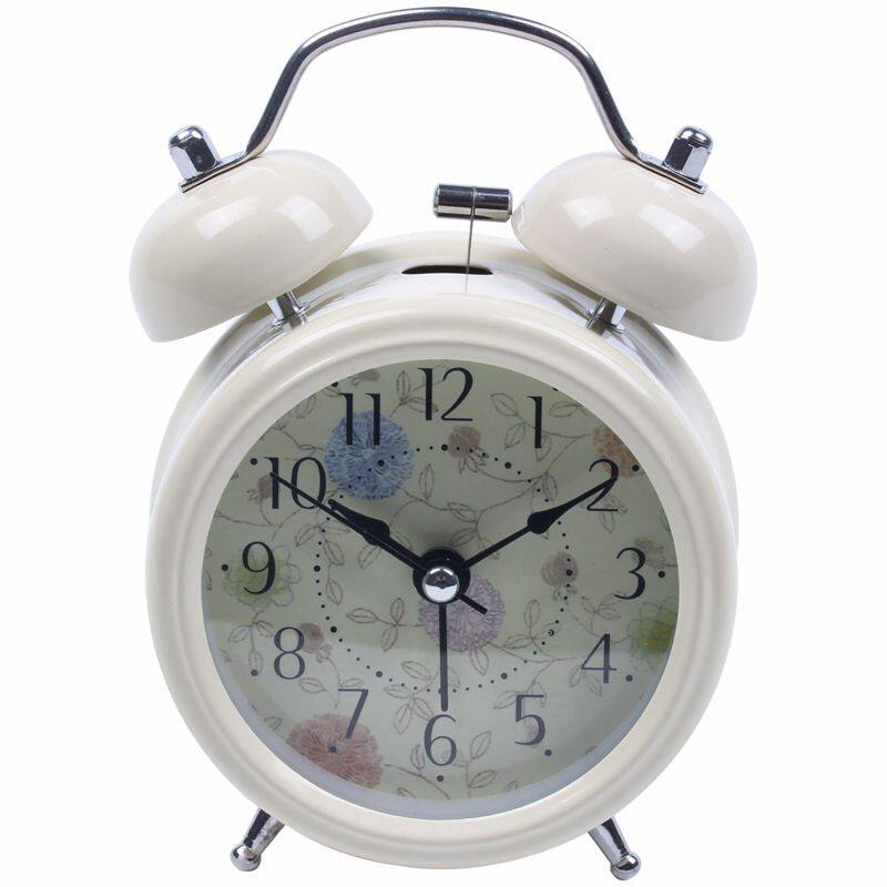 RETRO STYLE DOUBLE BELL ALARM CLOCK TRADITIONAL BEDSIDE LOUD WITH LIGHT