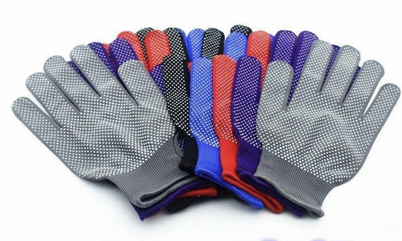 ??(ยกโหล)(1โหลมี12คู่) ถุงมือกันลื่น ถุงมือตุ๊กแก ถุงมือปุ่ม ถุงมือทำงาน.