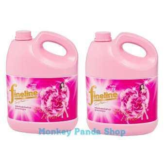 ไฟน์ไลน์ fineline น้ำยาปรับผ้านุ่ม สีชมพูอ่อน 3500 มล.( แพ็ค 2 แกลลอน)