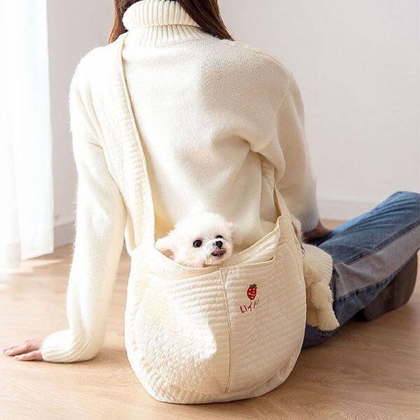 CLCHI 1 chiếc Dễ thương để Đi bộ, Du lịch Túi xách tay Lưới thép Túi đồ ăn nhẹ cho thú cưng Túi đeo vai đơn Cat Slings Pouch Túi thú cưng Người vận chuyển chó