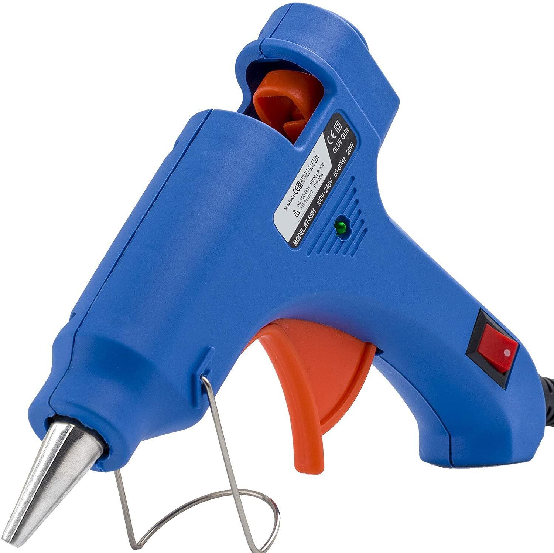 XUZHAO ปืนยิงกาวร้อน ปืนกาวแท่ง ปืนยิงกาว Super Hot Melt Glue Guns GT-10 100W (สีน้ำเงิน)