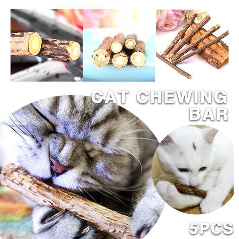 Tsujiu Store 7g 5pcs Wood Long Effect Edible Kitten Cat Snack Catnip By Tsujiu Store.