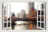 ขาย 80X120Cm Chicago Downtown City Landscape Stickers 3D Wall Decal Creative Window View Removable Wallpapers Unbranded Generic ผู้ค้าส่ง
