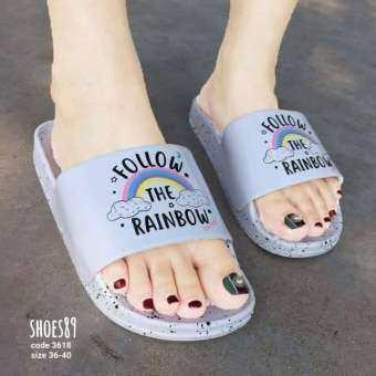 รองเท้าแตะ Rainbow ลายก้อนเมฆ นุ่มสบายเท้า-