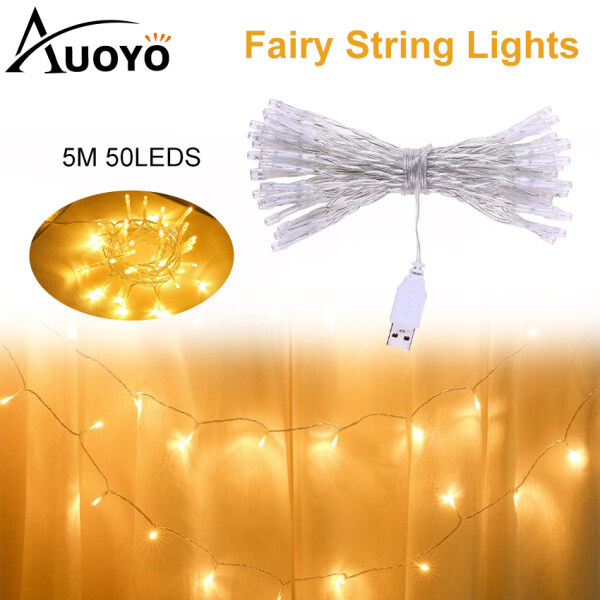 Auoyo 5M Fairy Light LED Fairy Lamp USB String Light Decorative Lights for Christmas Wedding Home