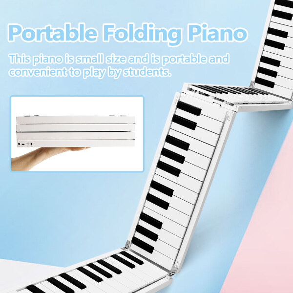 [HOTEST ] Net red burst Foldable Piano Digital Piano Portable Electronic Keyboard Piano for Piano Student Malaysia