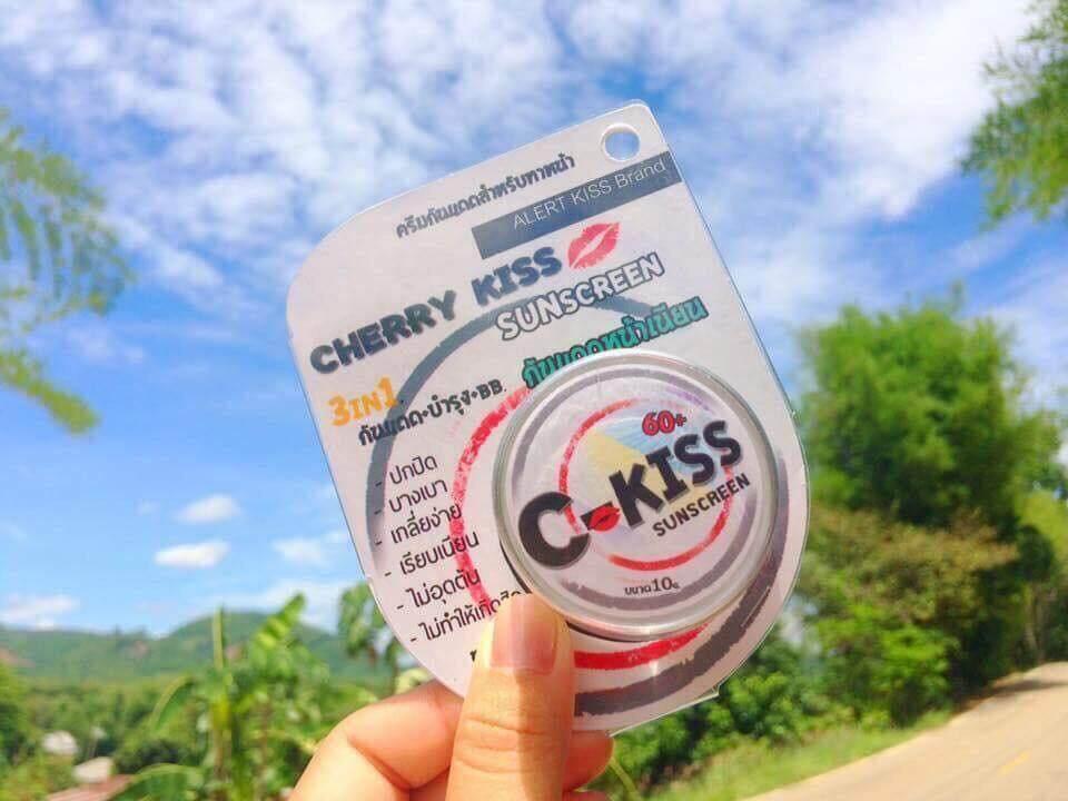 (2 กระปุก) C-Kiss Cherry Kiss Sunscreen 3in1 SPF 60PA+++ 10 กรัม