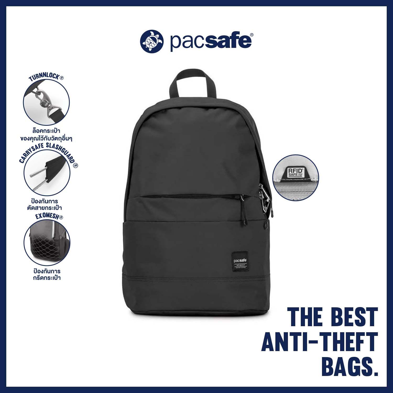 Pacsafe Slingsafe Lx300 Backpack Anti-Theft กระเป๋าเป้สะพายหลัง กระเป๋ากันขโมย.