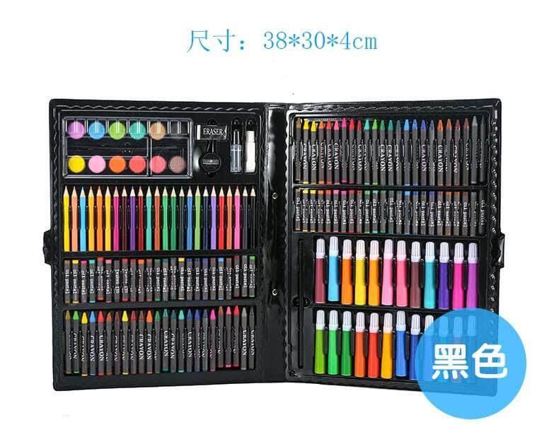 ชุดพาเลทสี ชุดอุปกรณ์เครื่องเขียนสำหรับเด็ก สีไม้ สีเทียน สีน้ำมัน สีเมจิก สีฝุ่น พร้อมอุปกรณ์ต่างๆ.