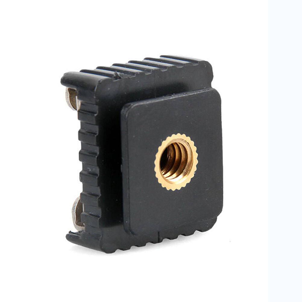 แพคคู่ 1/4 สกรูล๊อคฐานกล้องกับแฟลชกล้อง Thread To Metal Flash Hot Shoe Mount Adapter Studio Light Stand/tripod.
