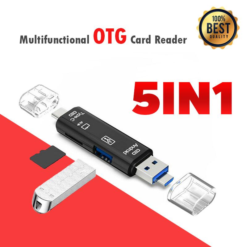 การ์ดรีดเดอร์ เชื่อมต่อโอทีจี Type C / Usb / Micro Usb Tf Memory Card Reader Otg Adapter 5 In 1 Usb 3.0.