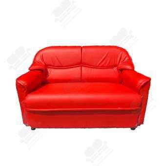 NDL โซฟา 2 ที่นั่งหุ้มหนัง PVC รุ่น RT2 (สีแดง)