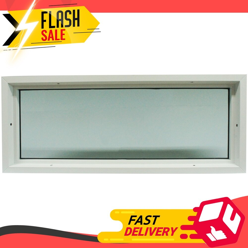 ⚡((sale)) หน้าต่างช่องแสง Upvc Hf 100x40 ซม. สีขาว อุปกรณ์เสริมประตูหน้าต่าง อุปกรณ์ประตู Door & Window Accessories ของแท้ ส่งเร็ว.
