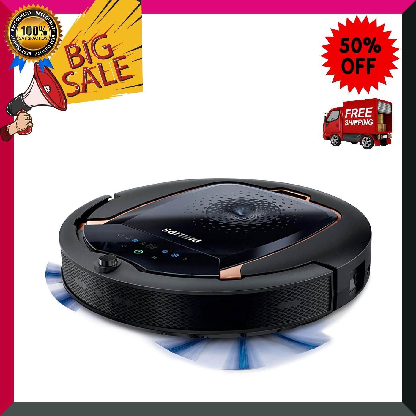 หุ่นยนต์ทำความสะอาด PHILIPS รุ่น FC8820 สีดำ เครื่องดูดฝุ่น เครื่องทำความสะอาด เครื่องดูดฝุ่นอัตโนมัติ หุ่นยนต์ดูดฝุ่น Vacuum Cleaner สินค้าคุณภาพ Premium ***จัดส่งฟรี***