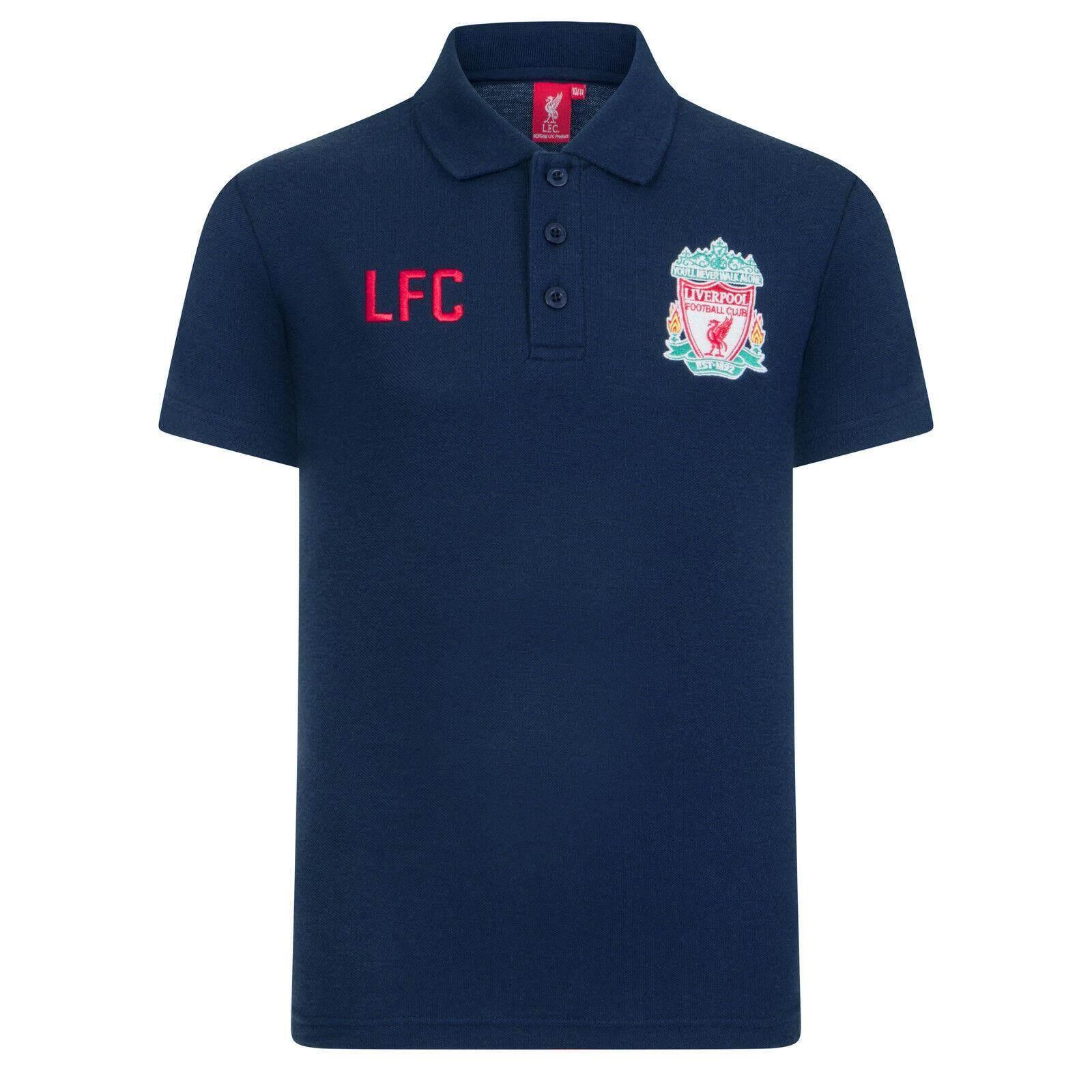 3a0416ff Liverpool Football Club Soccer Gift Crest Polo Shirt Gildan Birthday Present