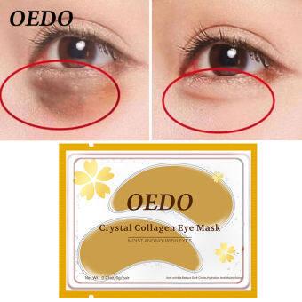 OEDO ถูกๆ 1ชิ้น ต่อต้านริ้วรอย หน้ากากตาคอลลาเจน การดูแลผิวรอบดวงตา ลดริ้วรอย ลดถุงใต้ตา ให้ความชุ่มชื้น Crystal Collagen Eye Patch