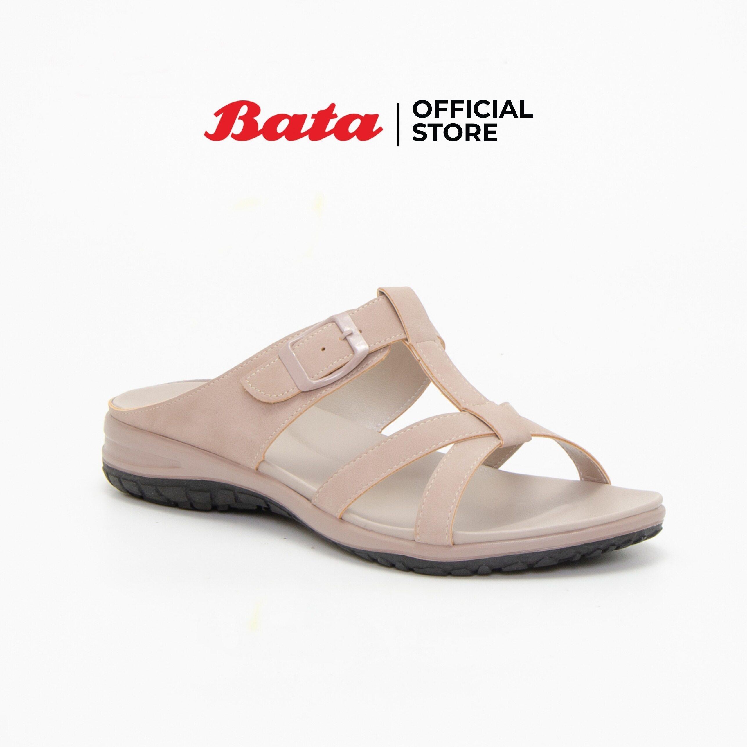 Bata Womens Mules Flats รองเท้าส้นแบนสำหรับผู้หญิง รุ่น Gade สีเบจ 6618662.