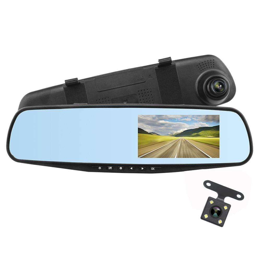 Ak47 กล้องติดรถยนต์กระจกมองหลัง 2 กล้อง หน้า+หลัง 4.3″ 170องศา Full Hd.