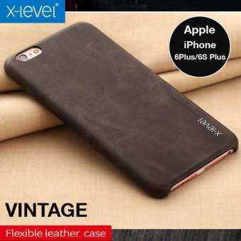 Rock X-Level Vintage Original เคสหนังวินเทจ  ของแท้ สีน้ำตาลเข้ม สำหรับ iPhone6 Plus/6S Plus (Brown)