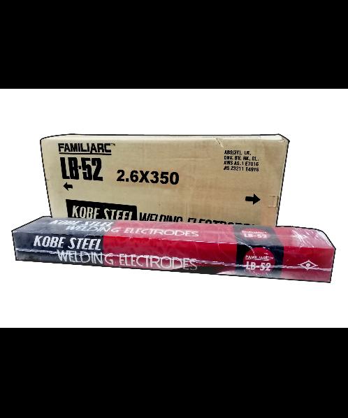 KOBE ลวดเชื่อม โกเบ LB52 แอลบี 52 ขนาด 2.6 มม ห่อละ 5 kg แท้ เชื่อมเหล็กเหนียวแรงดันสูง เชื่อมง่าย KOBE LB52 2.6mm