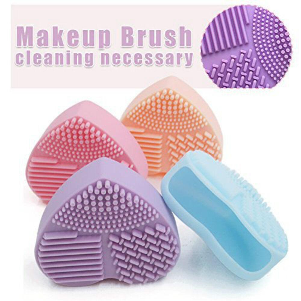 Makeup Brush Cleaner ซิลิโคนล้างแปรงแต่งหน้า ที่ล้างแปรงแต่งหน้า ซิลิโคนทำความสะอาดแปรงแต่งหน้า รูปหัวใจ.