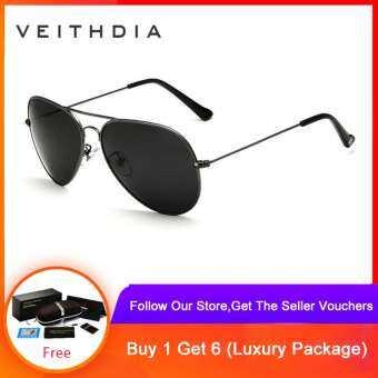 VEITHDIA แว่นกันแดดแฟชั่น Polarized  สไตล์วินเทจ แว่นตากันแดด แว่นโพลาไรซ์ ใส่ได้ทั้งผู้หญิงและผู้ชาย – 3026-