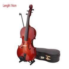 Mô Hình Đàn Violin KOKKO Mini Thu Nhỏ Có Chân Đế Và Ốp Lưng Đồ Trang Trí Nhạc Cụ Mini 10/14/16/25CM Với Vỏ Đàn Piano + Giá Đỡ + Cung Vĩ Cầm
