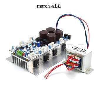 Marchall 741BTLAT ชุดลงอุปกรณ์ พร้อมหม้อแปลง บอร์ดไดร์ 741 BTL บริดจ์แอมป์ 800 วัตต์ วงจรขยายเสียง พร้อมภาคจ่ายไฟ วงจรป้องกันลำโพง + 8 ตัว ทรานซิสเตอร์ TOSHIBA ติดอลูมิเนียม ฮีทซิงค์ ระบายความร้อน เพิ่ม Bipolar เพาเวอร์ BJT ได้ 2-40 คู่ มี Speaker รีเลย์