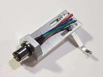 เฮดเชลอลูมิเนียม สีเงิน Headshell Aluminum Silver สำหรับติดตั้งหัวเข็ม Cartridge+Stylus 1/2นิ้ว ในเครื่องเล่นแผ่นเสียงSilver LP Turntable Headshell Mount Replacement-