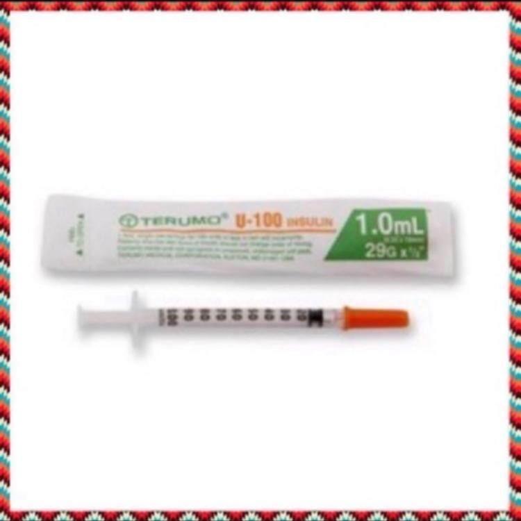 (50 อัน) Syringe Terumo U-100 29G 1ml กระบอกฉีดยาพลาสติก
