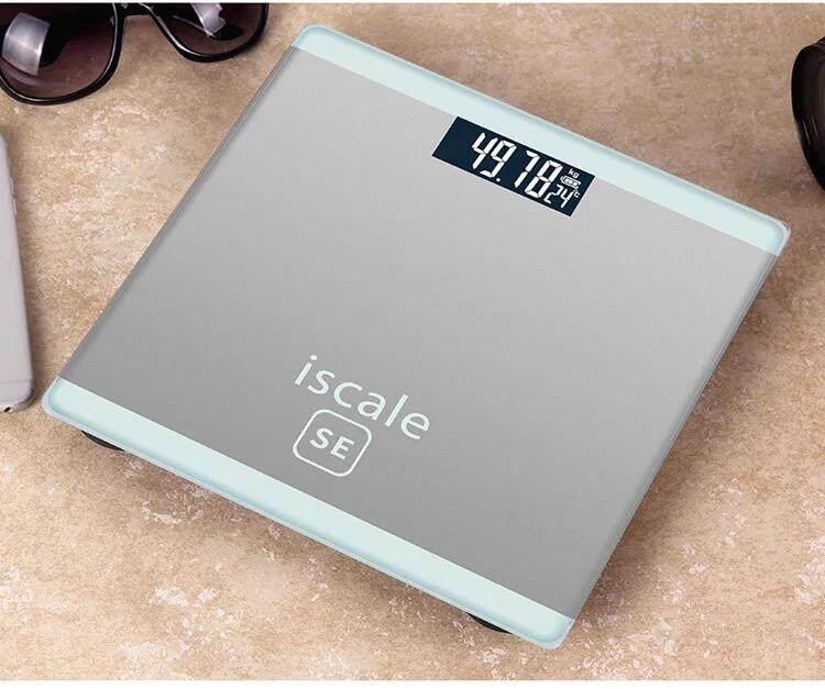 { พร้อมส่ง ส่งฟรีครับ } Cici Electronic Weight Scale เครื่องชั่งน้ำหนักดิจิตอล 0.1-180kg แสดงอุณหภูมิ Se By Cici.