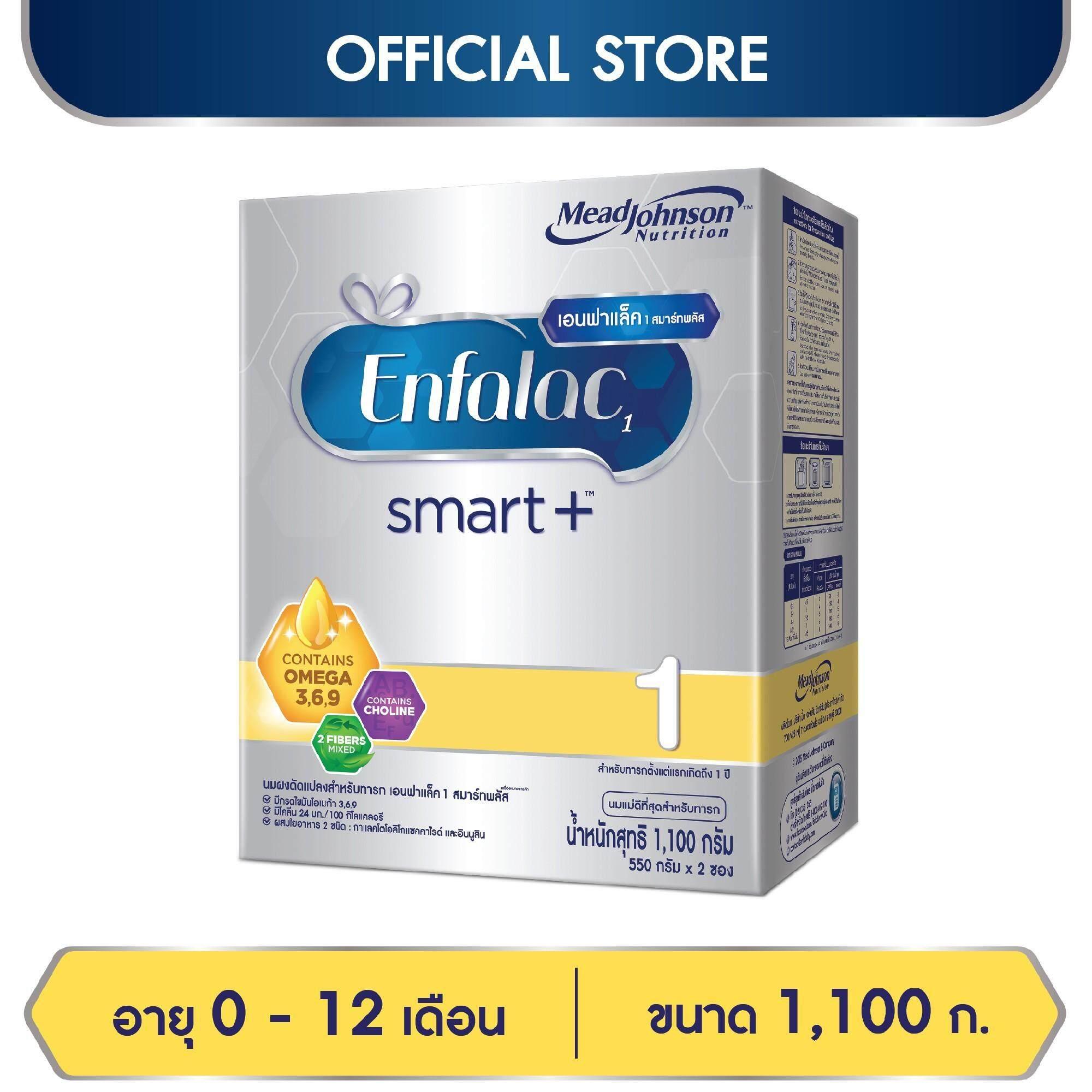 ราคาถูก นมผง Enfalac เอนฟาแล็ค สมาร์ทพลัส สูตร 1 สำหรับ ทารก เด็กแรกเกิด เด็กเล็ก 1100 กรัม ลดราคา ของแท้