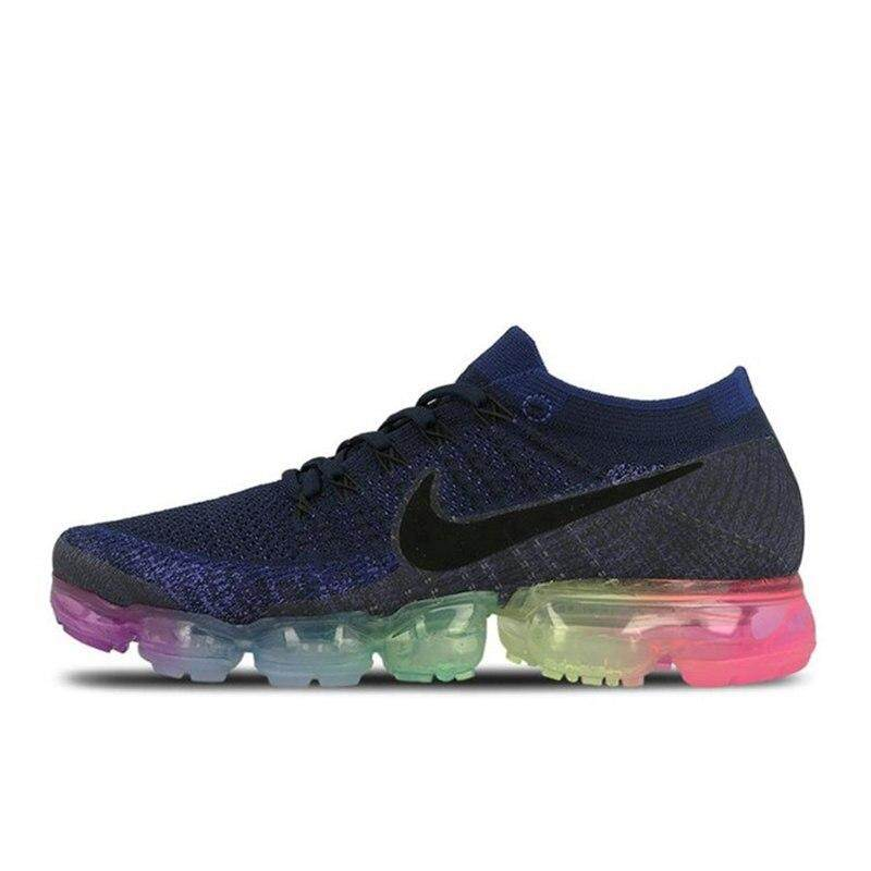 a47a13a6dc79 Nike air vapormax flyknit Breathable Men s Running Shoes Sports Arrival  Sneakers Outdoor Rainbow