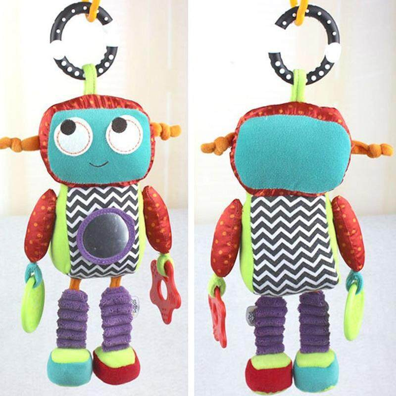 Baby Rattle Plush Musical Car Bed Handing Toy Robot Early Educational Toys Doll