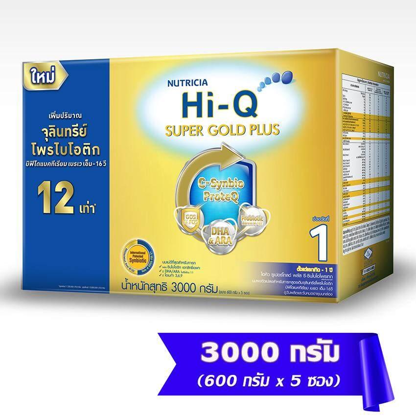 ซื้อที่ไหน  HI-Q ไฮคิว นมผงสำหรับเด็ก ช่วงวัยที่ 1 ซูเปอร์โกลด์ พลัส ซี-ซินไบโอโพรเทก 3000 กรัม   ราคา ของแท้