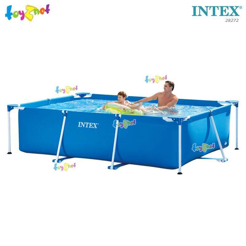 Intex ส่งฟรี สระน้ำ เฟรมพูล สี่เหลี่ยม 3x2x0.75 ม. รุ่น 28272 By Suriyong Trading Ltd., Part..