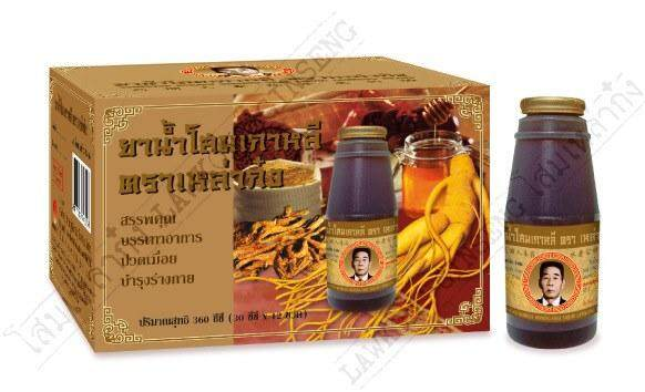ยาน้ำโสมเกาหลีตราเหล่าก๋ง 高丽人参药水老公牌 เป็นยาแผนโบราณ บำรุงร่างกาย บรรเทาปวดเมื่อย แก้อ่อนเพลีย โสมผสมสมุนไพรจีนล้วน.