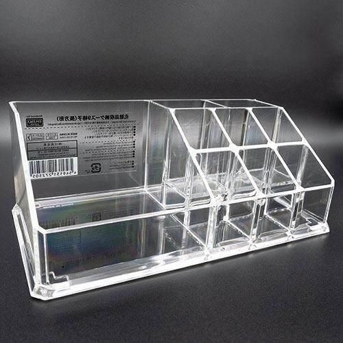 ไดโซ Daiso กล่องใส่เครื่องสำอางอะคริลิค 17.4x9.4x6.6ซม. (คละสี)