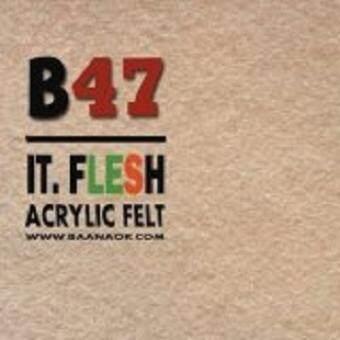 Felt-B47 ผ้าสักหลาด สองหน้า เนื้อนิ่ม (มี 3 ขนาดให้เลือก) Acrylic Felt Craft Sewing Felt Fabric